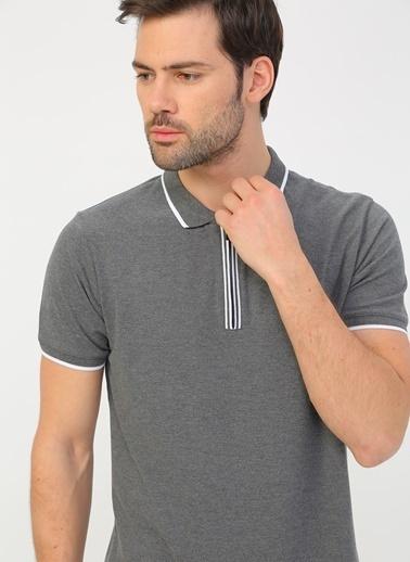 Fabrika Fabrika Gri Melanj Erkek Polo T-Shirt Gri